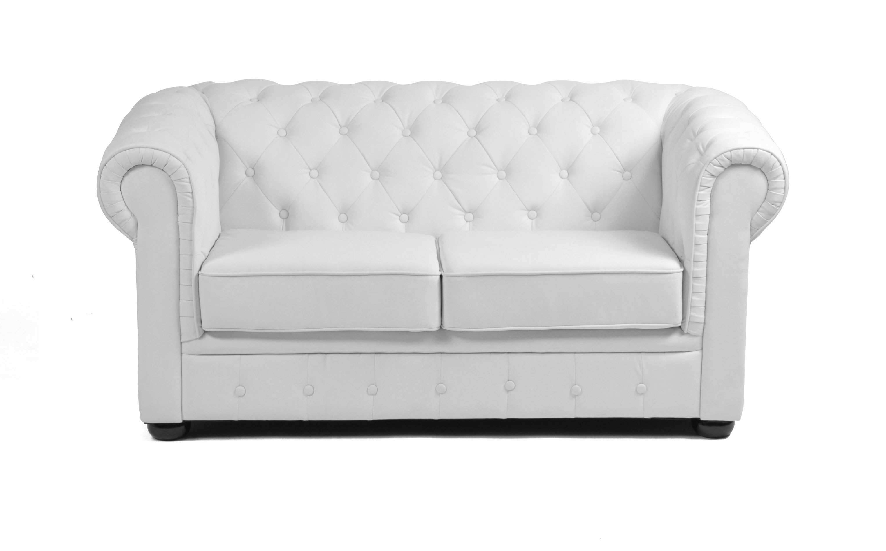 White chesterfield chair - 2 Seater Chesterfield Sofa White