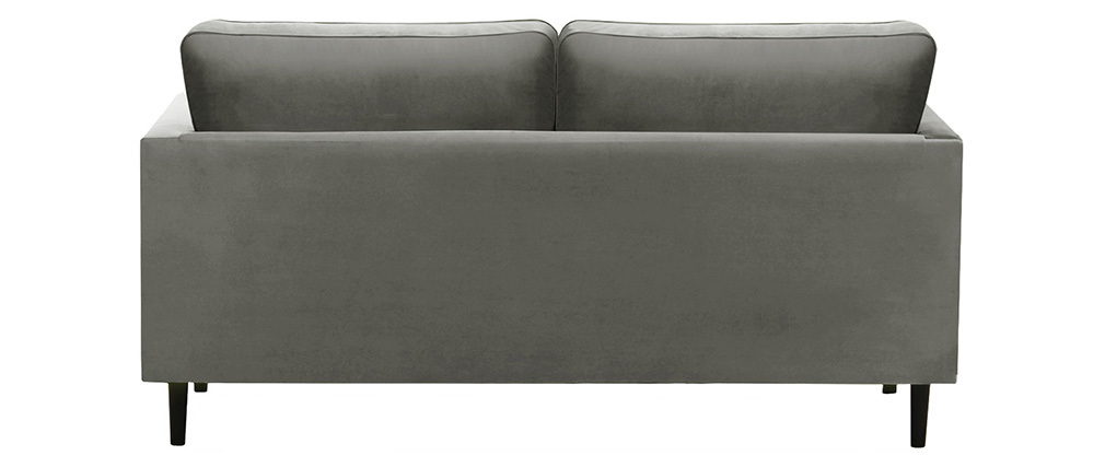 3-seater grey velvet WILLIAM sofa.