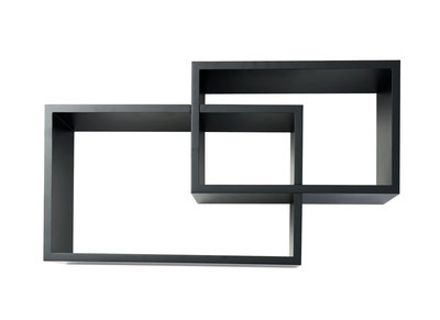 Adjustable Black Modern Shelves ZELIA