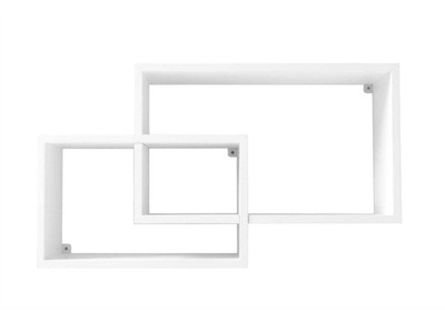 Adjustable White Modern Shelves ZELIA