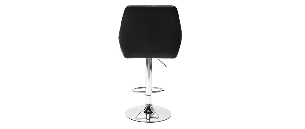 ALEK set of 2 black PU designer bar stools
