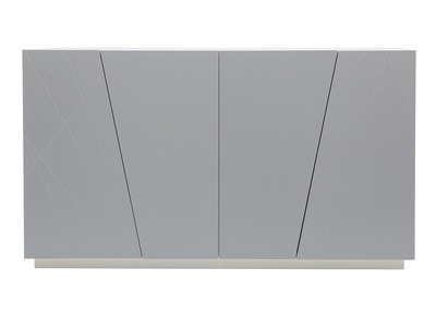 ALESSIA matte grey lacquered designer sideboard