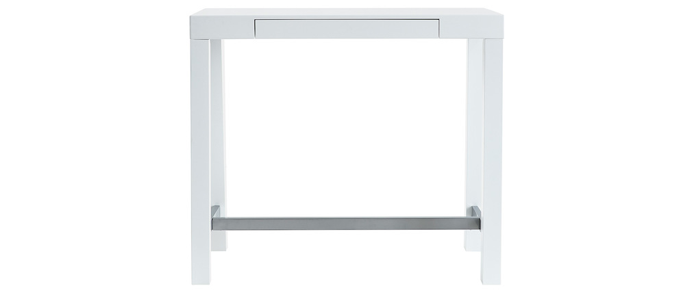 ALEX Glossy White Modern Bar Table