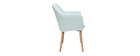 ALEYNA Scandinavian armchair in mint with oak legs