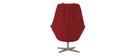 AMADEO designer red fabric chair with metal base