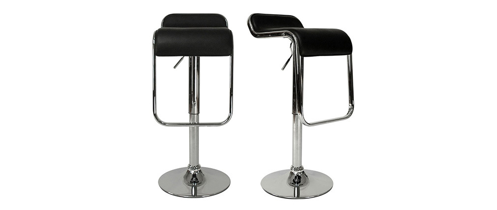 ANDROMEDE Black Bar/Kitchen Stool (set of 2)