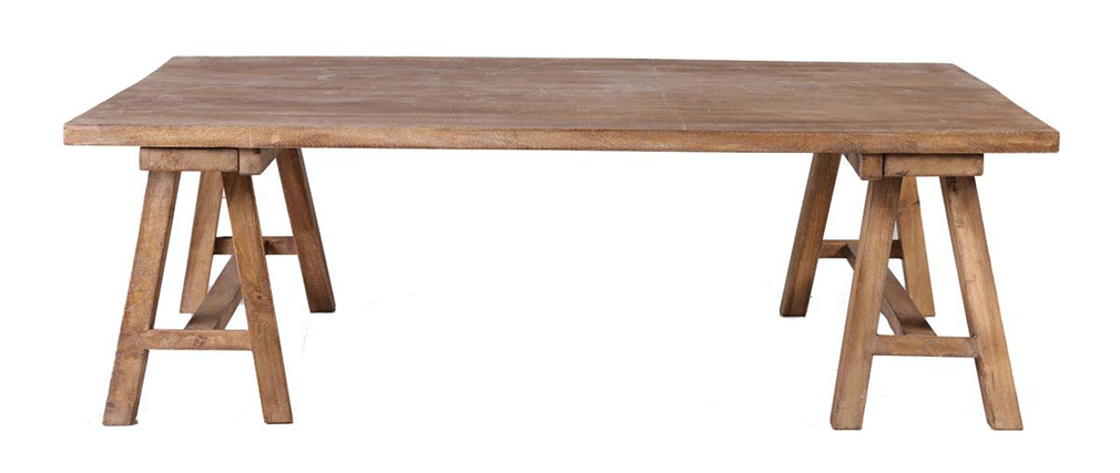 ANTIQUA Wood Industrial Coffee Table