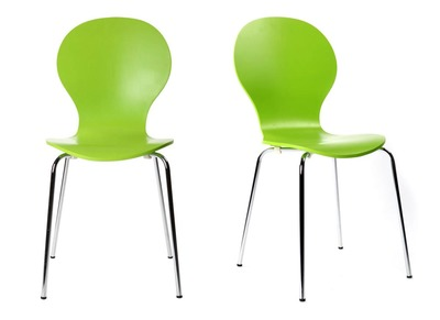 Apple Green Modern Stackable Chairs NEW ABIGAIL (set of 2)
