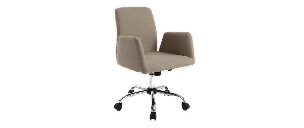 ARIEL cream fabric designer office chair