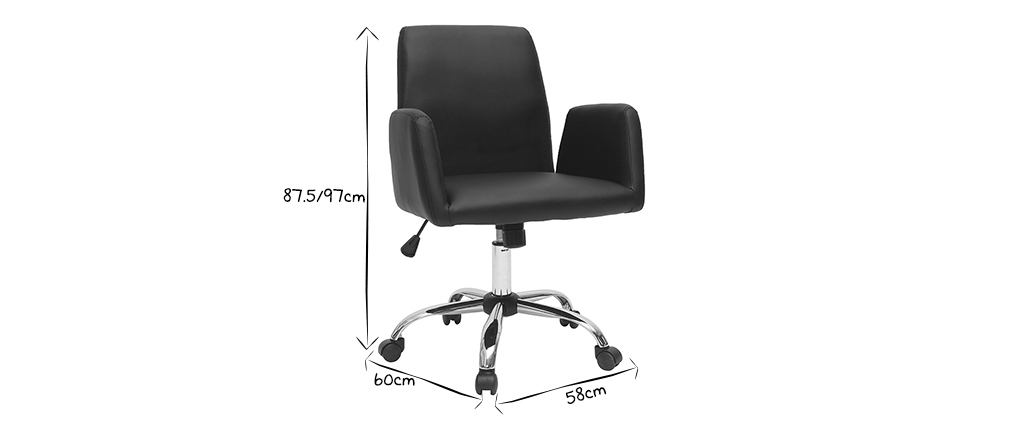 ARIEL grey fabric designer office chair