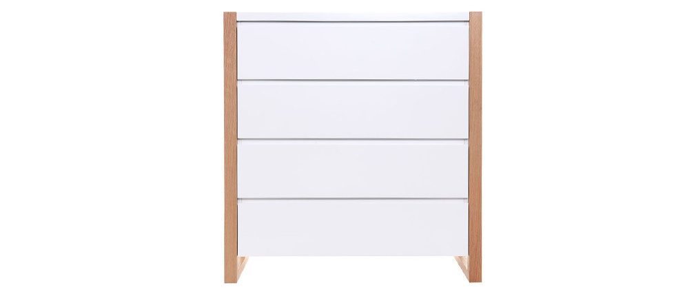 ARMEL Matte White Modern 4 Drawer Chest