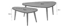 ARTIK light grey and natural wood coffee tables