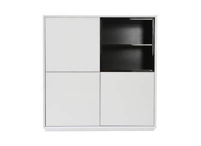 ARTY Black and White MDF Modern Sideboard (110cm)