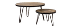 ATELIER Industrial Round Coffee Table (50x35 cm)