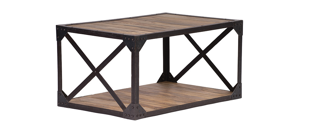 ATELIER Industrial Wood and Metal Coffee Table