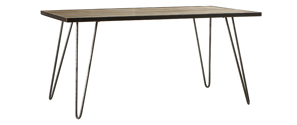 ATELIER industrial wood and metal dining table