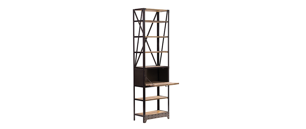 ATELIER Industrial Wood and Metal Shelving Unit