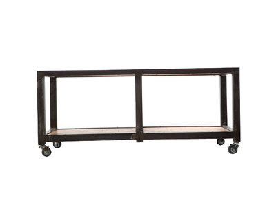 ATELIER ROLL Industrial Wood and Metal Coffee Table/TV Stand