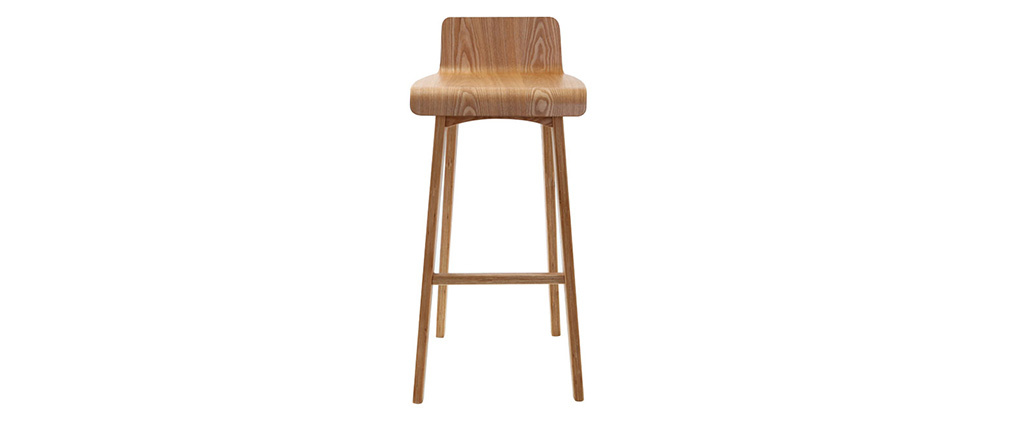 BALTIK Natural Wood Modern Scandinavian Bar Chair/Stool