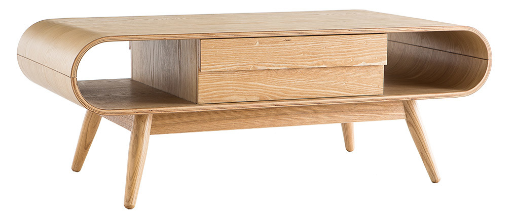 BALTIK Natural Wood Scandinavian Coffee Table