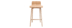 BALTIK Scandinavian wooden bar chair - 65cm