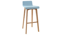 Bar stool/ chair modern tinted blue wood scandinavian style BALTIK