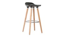 bar stool design black scandinavian GILDA