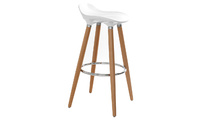 Bar stool design scandinavian white GILDA