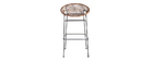 Bar stool in synthetic rattan wire MIA