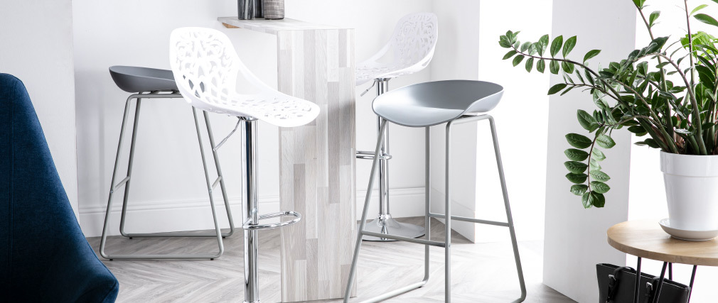 BAROCCA White Baroque Design Bar Stool