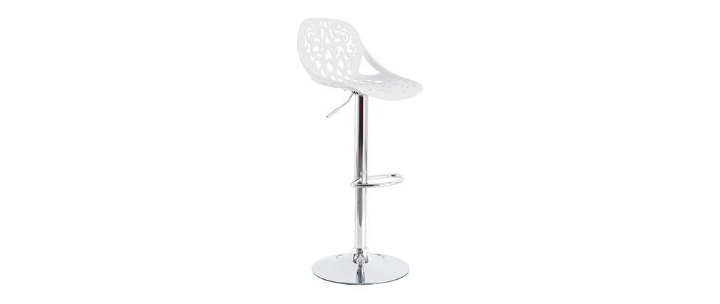 BAROCCA White Modern Bar Stool (set of 2)
