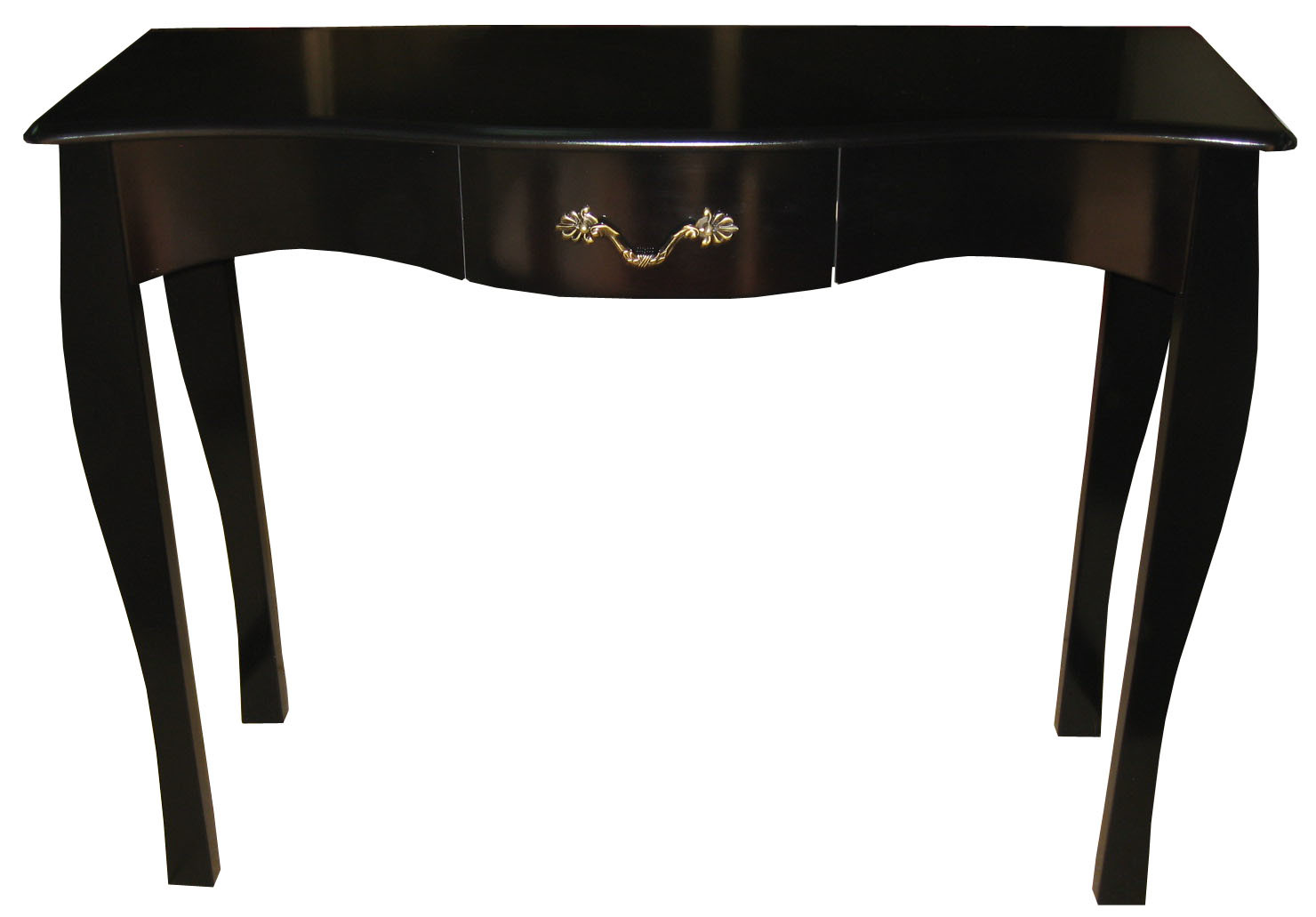 baroque style console table louisa 1 drawer 102 cm black miliboo. Black Bedroom Furniture Sets. Home Design Ideas