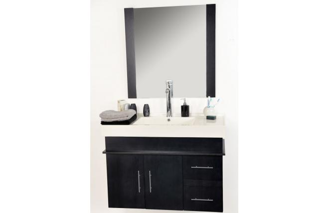 Bathroom furniture MANDURAH: basin, vanity unit and mirror
