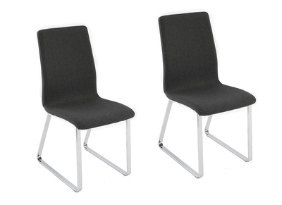 BELLA set of 2 grey designer chairs