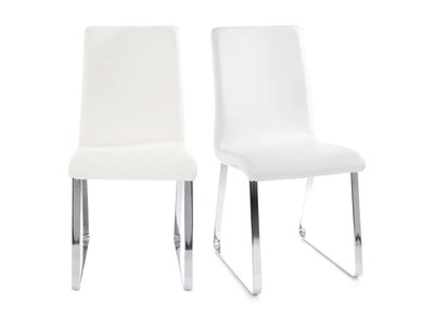 BELLA set of 2 white designer chairs