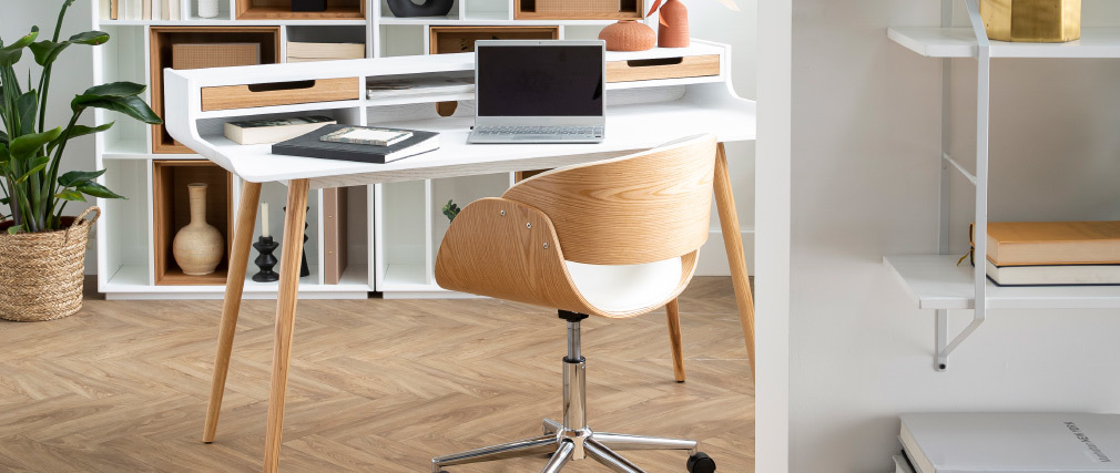 BENT Black and Walnut Office Chair