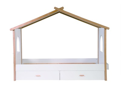 BIRDY Modern Kids Hut Bed with Drawers