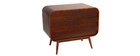 BJORG Walnut Modern 3 Drawer Chest