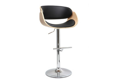 Black and Light Wood Bar Stool BENT
