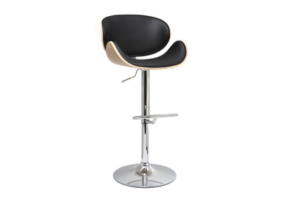 Black and Light Wood Bar Stool WALNUT