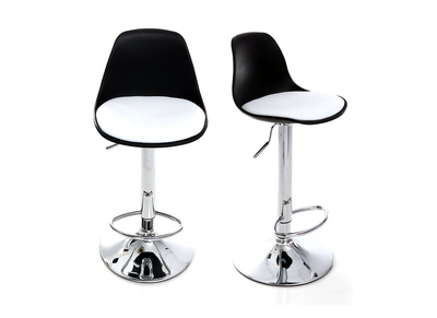 Black and White Modern Bar Stool STEEVY (set of 2)