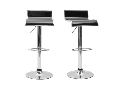 Black Bar/ Kitchen Stool WAVES (set of 2)