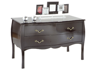 Black Baroque 2 Drawer Chest/Console Table LOUISA