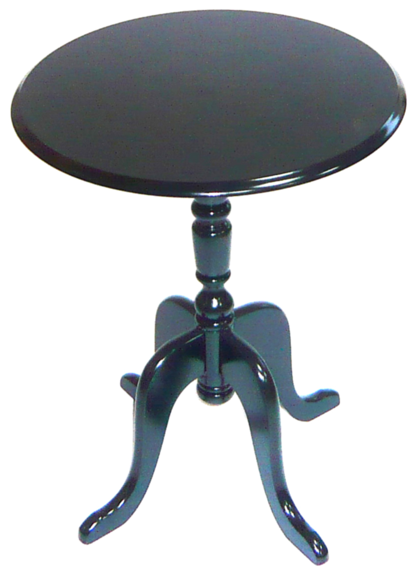 Black Baroque Round Side Table LOUISA