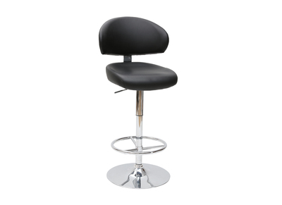 Black Contemporary Bar/Kitchen Stool NEPTUNE