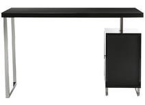 Black lacquer modern desk with 2 drawers LEXI