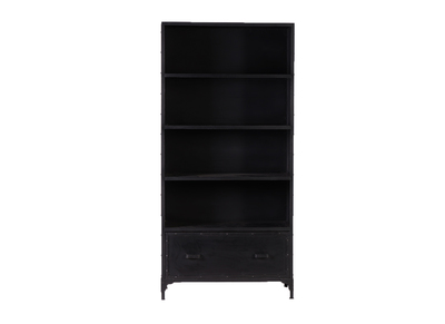 Black Metal Industrial Bookshelf FACTORY