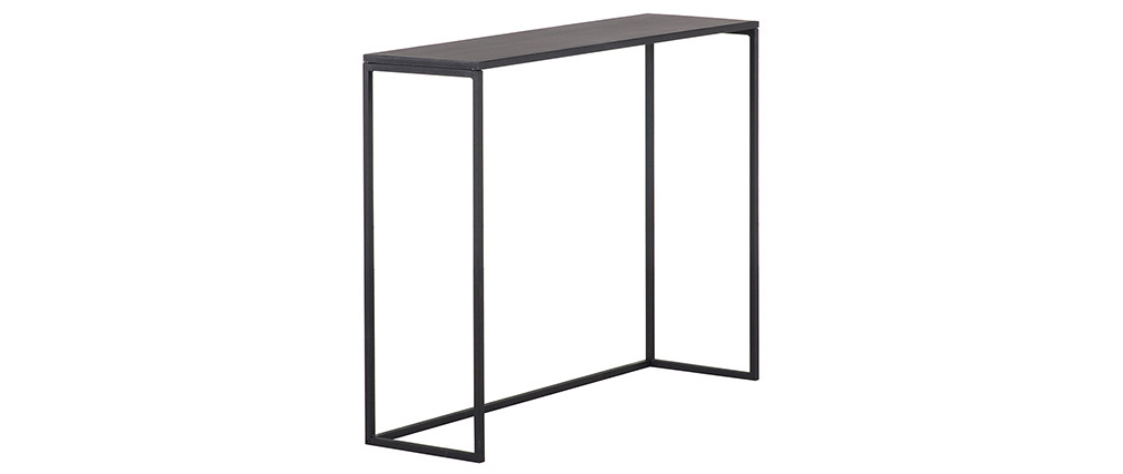Black metal industrial console table KARL