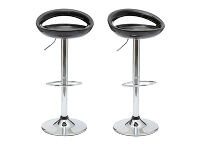Black Modern Bar/ Kitchen Stool COMET (set of 2)