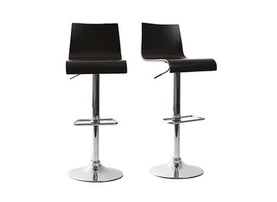 Black Modern Bar/Kitchen Stool NEWSURF (set of 2)